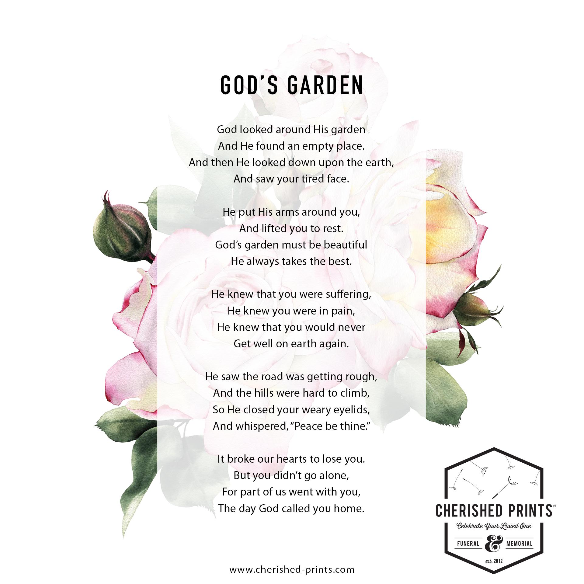 God's Garden-Cherished Prints-Library