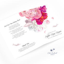 Beautiful soft peonies program bifold