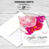 eautiful Soft Peonies Sympathy, Memorial and Funeral Thank You Card