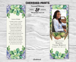 Cherished Prints Succelents Bookmarks