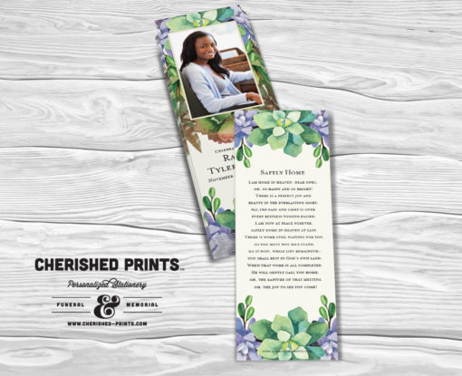 Cherished Prints Succulents Bookmarks