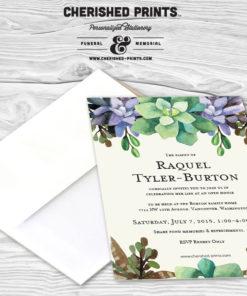 Cherished Prints Succulents Announcements