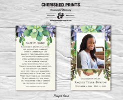 Cherished Prints Succulents Prayer Cards
