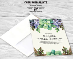 Succulents Thank You Cards