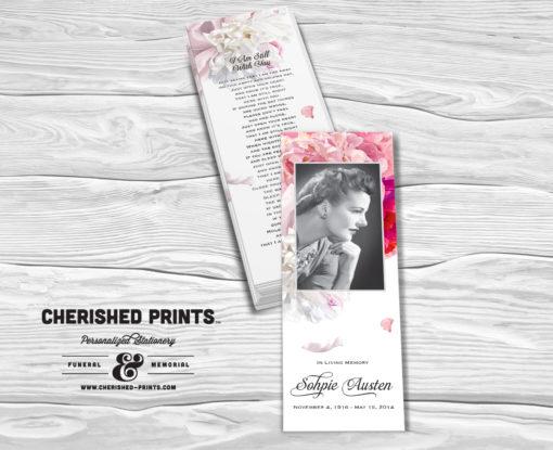 Beautiful Soft Peonies Bookmark
