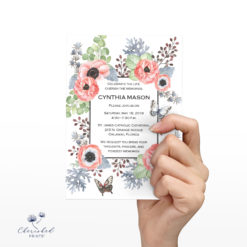 Anemones Invitation Front