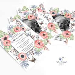 Anemones Invitation stack