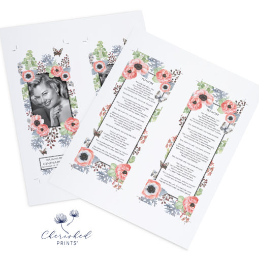 Anemones and Butterflies Bookmark 2up