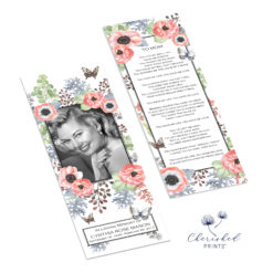 Anemones and Butterflies Bookmark