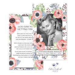 Anemones and Butterflies Prayer Card Cover