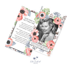 Anemones and Butterflies Prayer Card