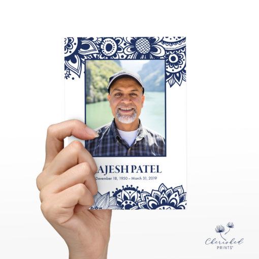 Block Print Memorial Card