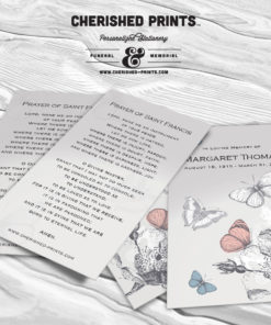 Butterfly Prayer Card