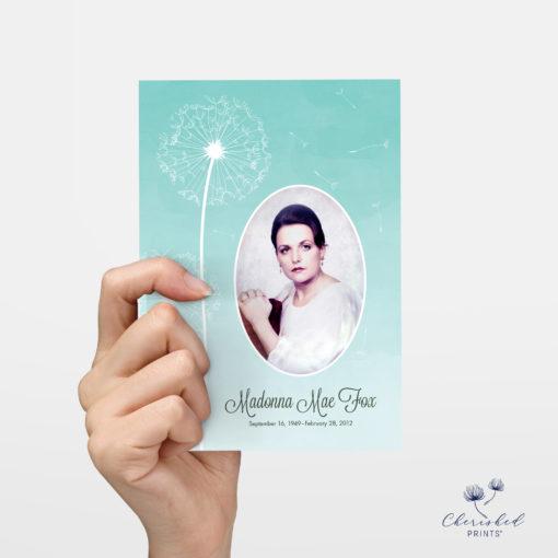 Hand holding Dandelions Invitation