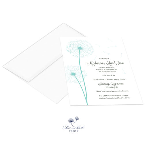 Dandelions Invitation with envelope