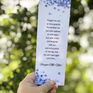 Forget-Me-Not--Laminated Bookmark