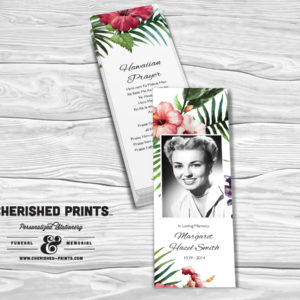 Tropical Flowers bookmarks