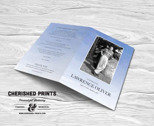 Ombre-Watercolor-Funeral Program