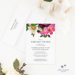 Spring Flowers Invitation Announcement