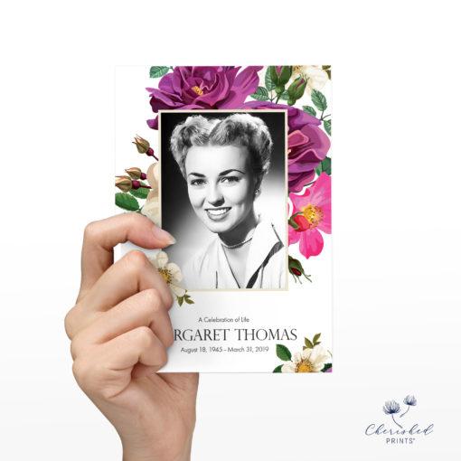 Spring Flowers Memorial Card