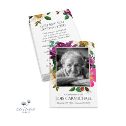 Spring Flowers Funeral Card