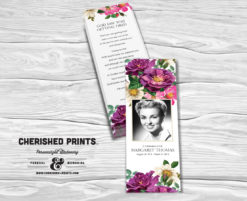 Spring Flowers Bookmark
