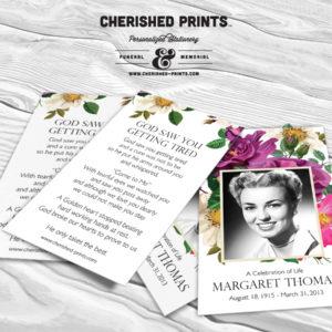 Spring Flowers Prayer Card
