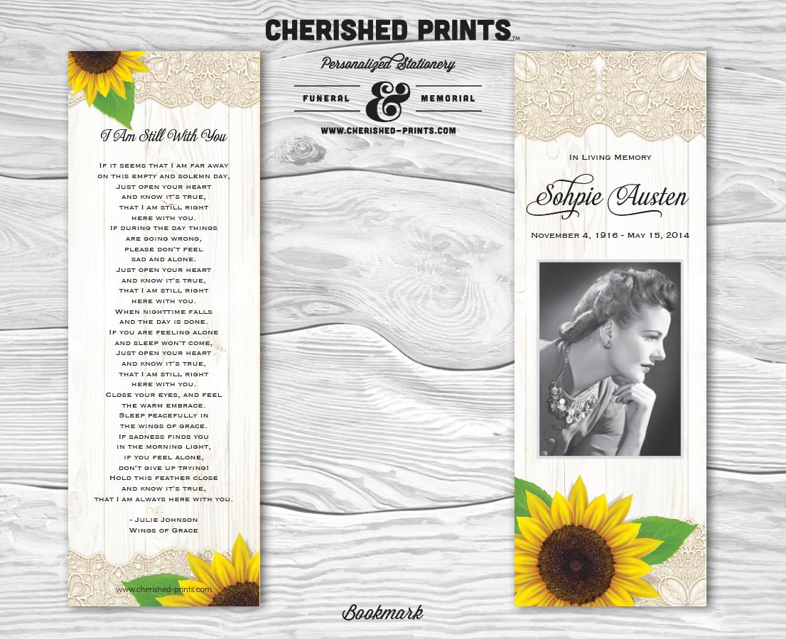 Sunflowers Bookmark