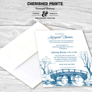 Memorial announcements and funeral invitations mourning cards bridge funeral announcement bridge funeral announcement stopboris