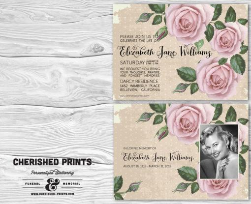 Purple Roses Invitation