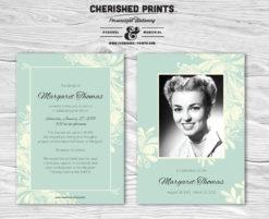 Chrysanthemum Funeral Announcement
