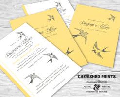 Sparrows Invitation