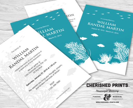 Coral Reef Funeral Announcement