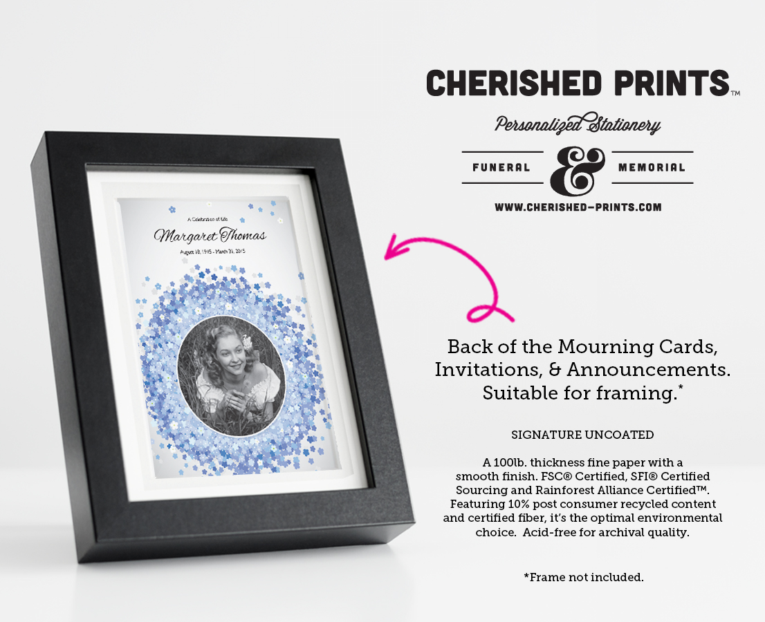 Forget Me Not Wedding Invitations: Forget-Me-Nots Celebration Of Life Invitations And