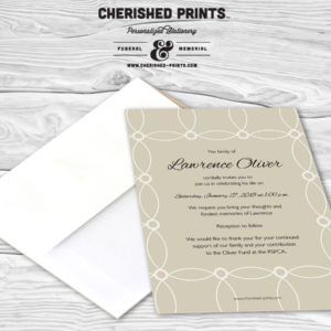Memorial announcements and funeral invitations mourning cards circles funeral announcement circles funeral announcement stopboris Choice Image