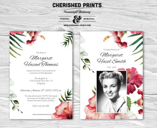 Tropical Flowers invitation