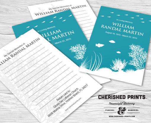 Coral Reef Memory Cards