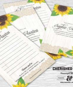 Sunflowers Memory Card