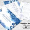 Seashells Memory Cards for Memorials and Funerals