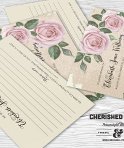Purple Roses Memory Card