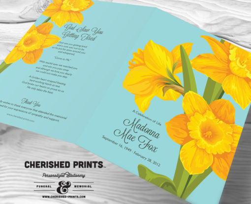 Daffodils Funeral Program