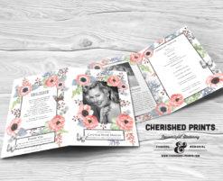 Anemone Funeral Program