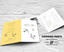 Sparrows Funeral Program