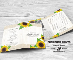 Sunflowers Funeral Program