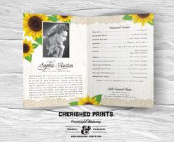 Sunflowers Funeral Program