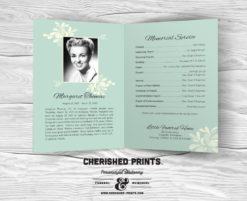 Chrysanthemum Funeral Program