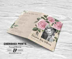 Purple Roses Funeral Program
