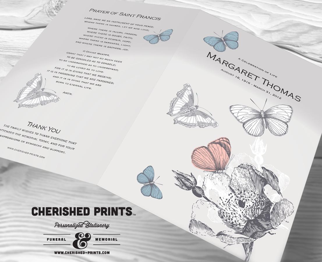 Butterfly Funeral Program