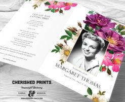 Spring Flowers Funeral Program
