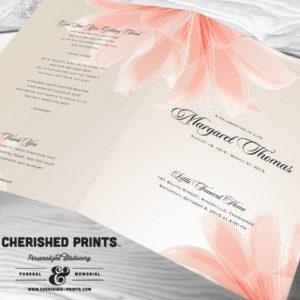 Lilies Funeral Program